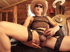 Lone Deranger: Solo Male Cowboy Talking Dirty Jacking off Thick Cumshot