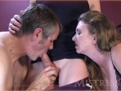 cock sucking creampie cleaning cuckold hubby