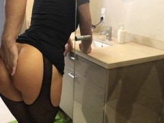 Step brother take sister in shower and cum on shes ass