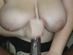 Big Tit Roommate Gives Sloppy Blowjob & Swallows Cum To Pay Rent!!
