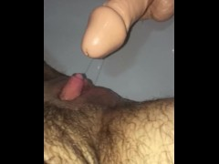 Ftm transman fucking hinself with huge thick cock