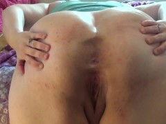 Big assed BBW: closeup ass spread with loud ass shaking! Cute asshole!