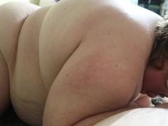 Fatty Girl Chokes Sucking Cock