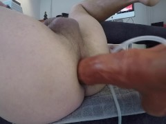 Horse Cock on Fuck Machine