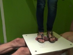 sandals cock and balls trample