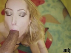 Candy May - DEEPTHROATS HUGE COCK BEFORE GETTING FUCKED