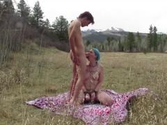Lux Lives & Casey V Outdoor Bondage Sex