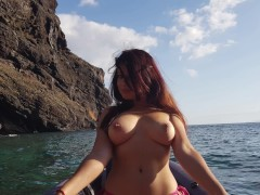 Red hairs gets horny and drain sperm from my nuts MadeInCanarias