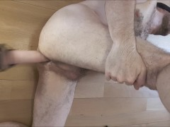 Intense ass fuck, cumshot, cum in ass, a2m for str8 guy by sex machine