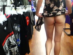 First Time Public - Blowjob, Pussy Flashing and Fingering (ALMOST CAUGHT)