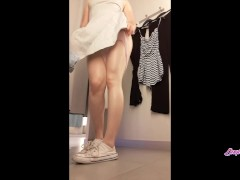 Snapchat Cute College Girl has fun masturbating in the public dressing room