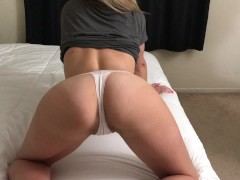 Dripping wet pussy gets fucked in multiple positions! Panties for sale!