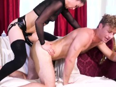 Kasey Warner Pegs Michael Vegas with a huge strapon and fucks him