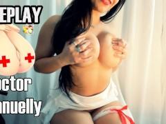 RolePlay Doctor Sexy Latina Medica fazendo sexo oral ate gozar na Boca