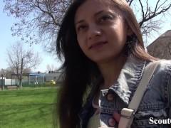 GERMAN SCOUT - KLEINE NUTTE SHRIMA MALATI HART BEI FAKE CASTING GEFICKT