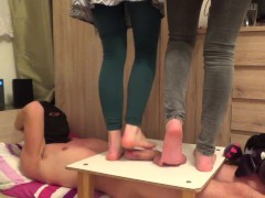 CBT Trample with two cruel ladies - part1
