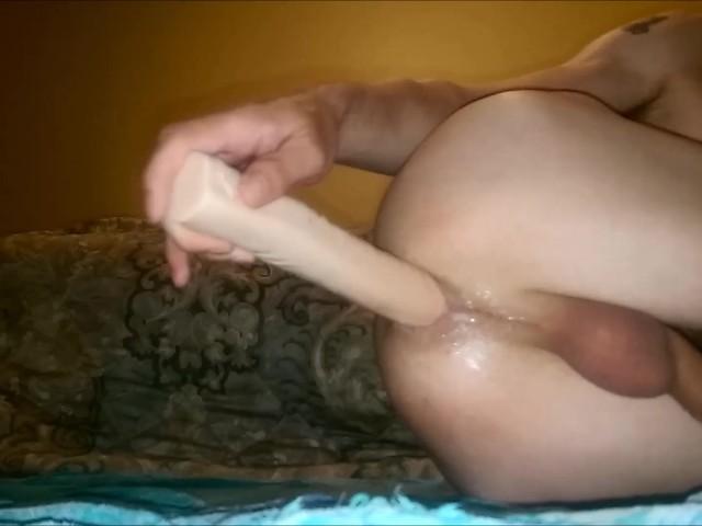 Giant anal dildo penetration-4090