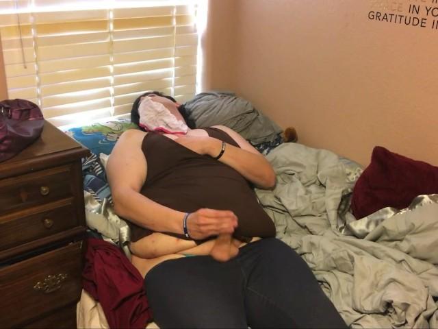 Tranny Masturbates and Tastes Her Own Cum