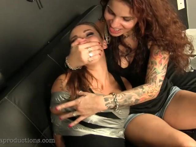 Sasha Fox Tied, Gagged, Tickled!