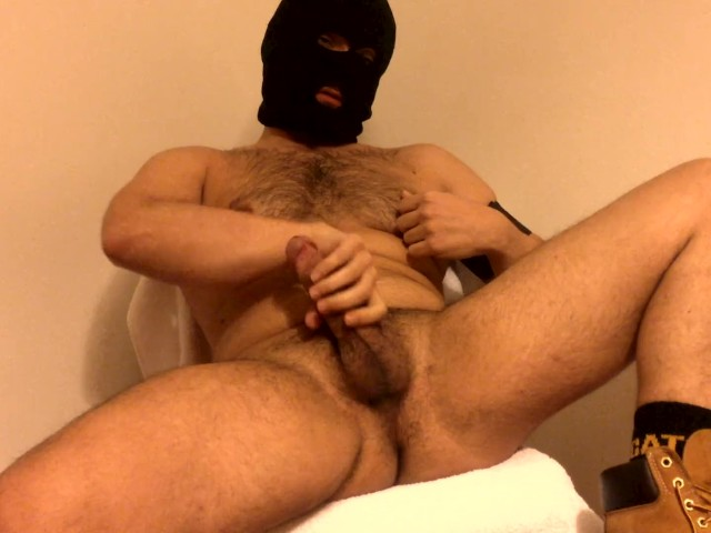 Flauros Bear Jerk Off and Cum Huge Load in Timberland Boots and Work Socks