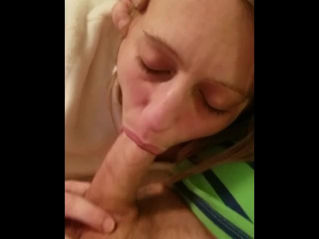 Real wife sucking stranger cock