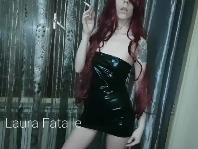 Hot Redhead Teen Masturbating and Smoking - Laura Fatalle