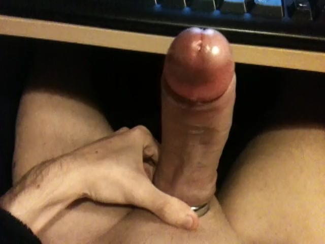 Edging With Cockring and Using Precum As Lube to Polish Glans