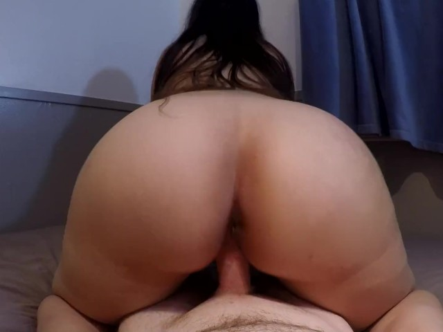 Thick Ass Brunette Gyrates Reverse Cowgirl Pov Until Hot Messy Creampie -5581