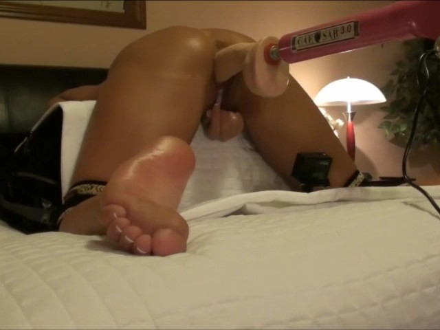 Hot Wife Foot View Knees Tied Doggy Style Dildo Fuck -6838