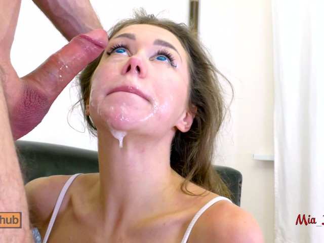 Asian brunette ml sloppy deepthroat facefuck 1