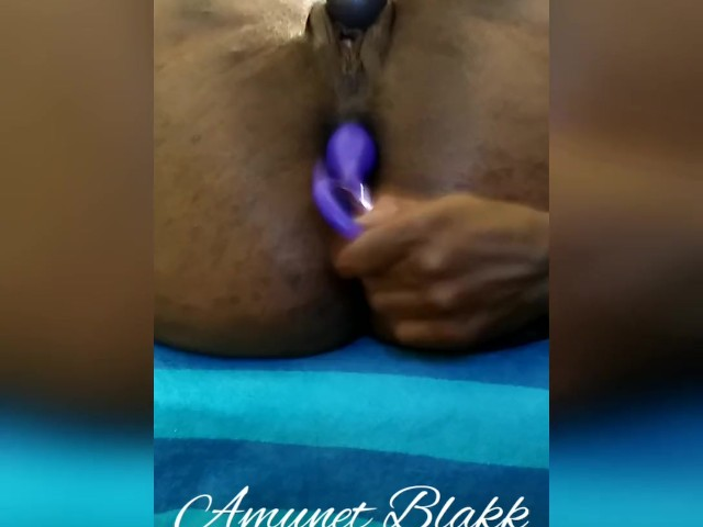 Papa Playing in My Ass While My Pussy Squirts - Amunet Blakk