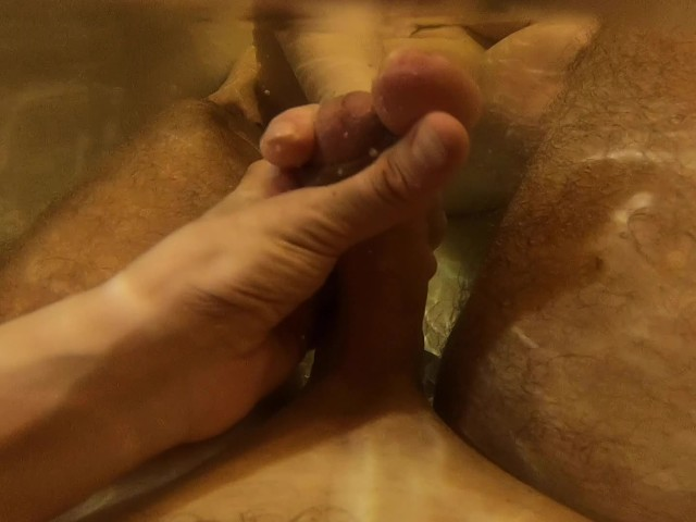 Underwater Footjob Cumshot | Ginger Teen Rubbing Cock With Her Feet to Cum
