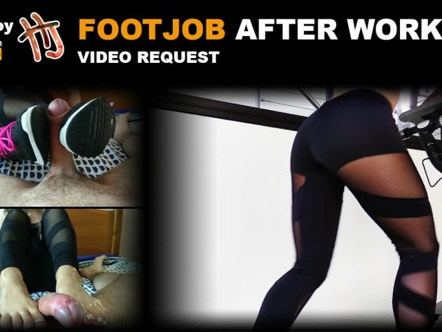 Handjoy * Footjob After Workout - Sneakers, Yoga Pants, Feet * Videorequest
