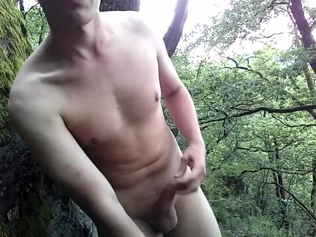18Yo Twink Caught Cumming Outdoor In The Forest - Free -7060