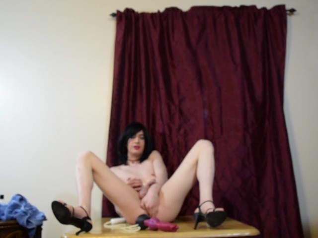 Sissy Playing With Dildo. Ashley Sissykins