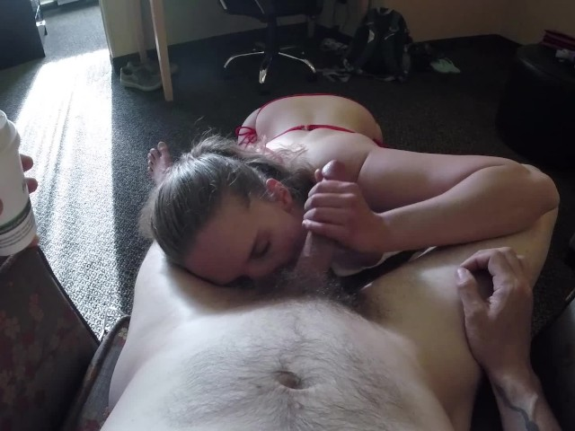 Bikini Babe Sucks You Dry - Deepthroat Bj Cum