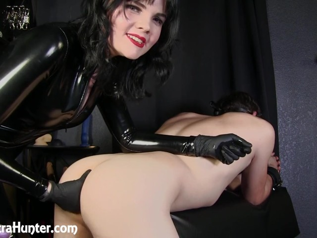Horny Slave Gets Ass Stretched Before Pegging