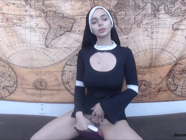 Possessed Nun Gets Anal Creampie