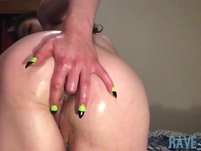 Worship My Oiled Up Domina Goddess Ass Hole & Pussy