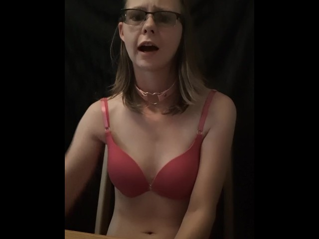 Submissive Slut Begs Daddy to Let Her Pee