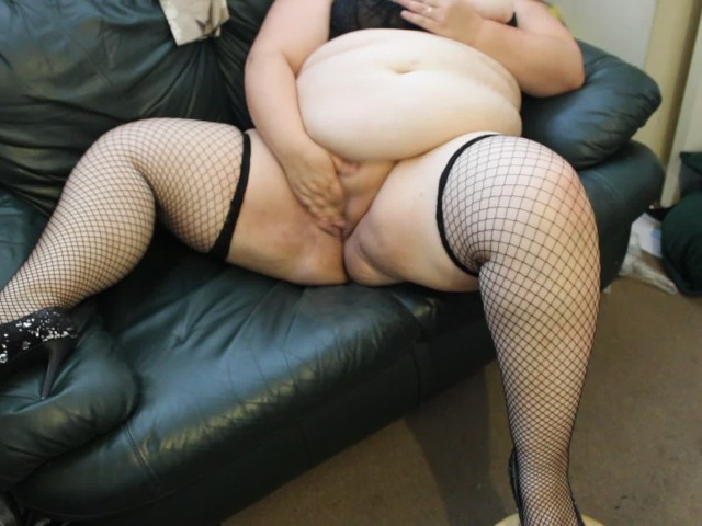 Ssbbw Emma Masturbation Until She Cums in Stockings and Heals