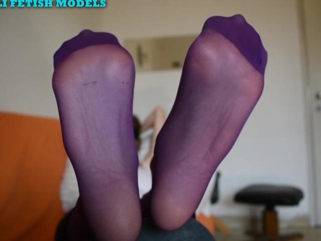 Yoga Pants and Purple Nylons