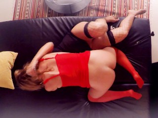 First lesbian experience. Hot blonde give rough fisting cute brunette Part1