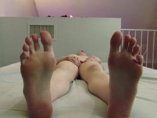 Feet POV Masturbation Beautiful Agony