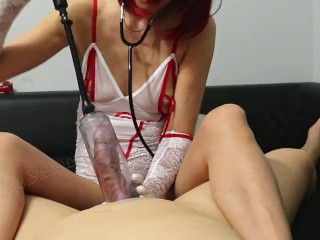 Polish Redhead Nurse Pump And Jekrk Out Patient Dick! Swallow All Sperm