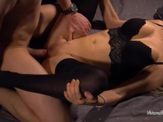 Čierny nylon sex