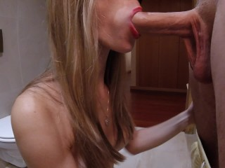 Intense Blowjob with Cum in Mouth – Amateur