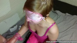 Blindfolded Submissive Girlfriend Gets...