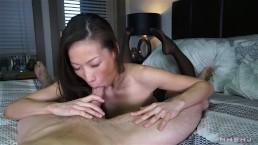 Sexy asian cocksucker works...