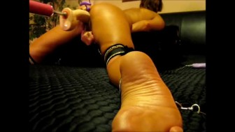 HOT MILF TIED CUMS HARD WITH EXPLOSIVE ENDING - foot lovers POV